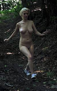 Stripped woman tries to runaway
