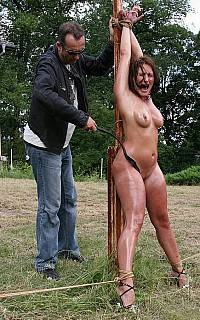 Slutty wife is punished on public