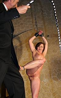 Bondage wife is protecting herself from the whip (Mar 2013)