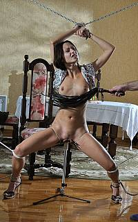 Teasing chained wife with the dildo (Apr 2013)