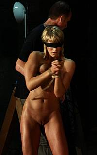 Slave is stripped by her master