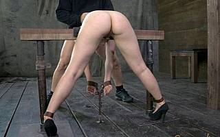 This bitch is ready to be fucked in bondage