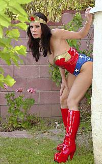 Sexy superhero is spying (Jul 2013)