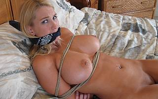 Intruder is about to fuck tied housewife (Sep 2013)