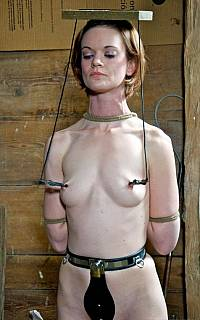 Girl is educated with strict BDSM