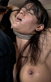 Strangled with rope and cumming
