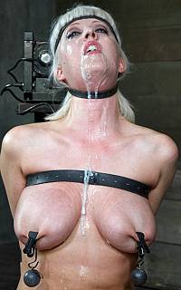 BDSM slut is covered in cum (Nov 2013)