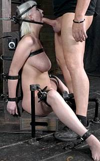 Tortured with bondage and doing a blowjob (Nov 2013)