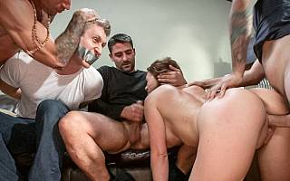 Forcing husband to watch his spouse getting fucked