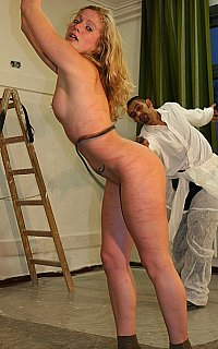 Stopping wife from cheating with extreme whipping